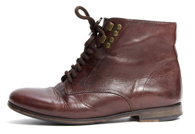 A.P.C. Brown Leather Lace-up Ankle Boots