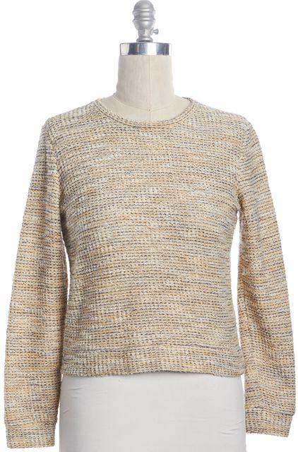 A.P.C. Yellow Metallic Gold Knit Crewneck Sweater