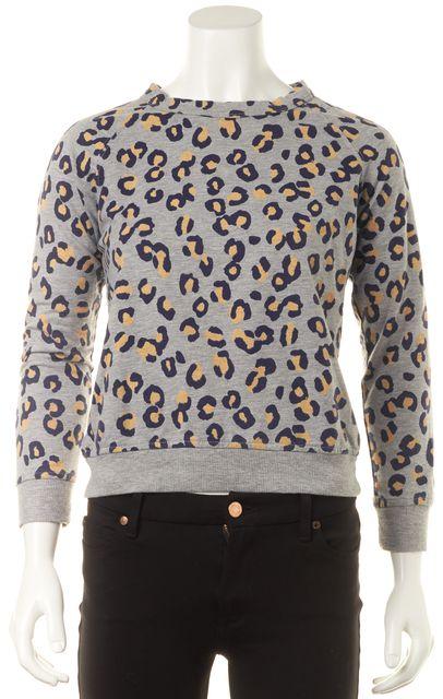 A.P.C. Gray Leopard Print Knit Top