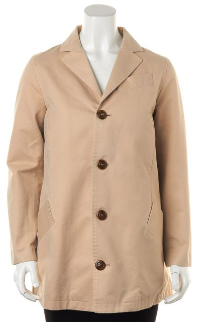 A.P.C. Beige Khaki Pocket Front Basic Coat