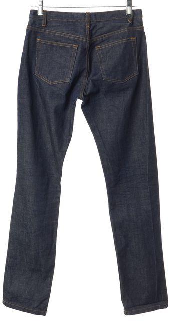 A.P.C. Blue Dark Wash Cotton Denim Cure F Slim Fit Jeans