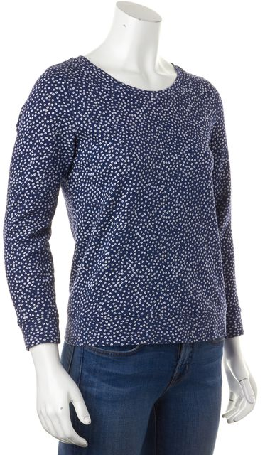 A.P.C. Casual Blue Polka Dot Crewneck Sweater