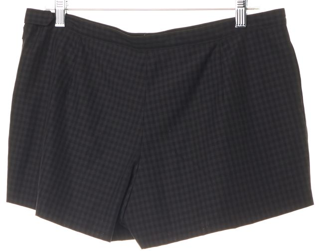 A.P.C. Gray Black Plaid Wool Blend Casual Shorts
