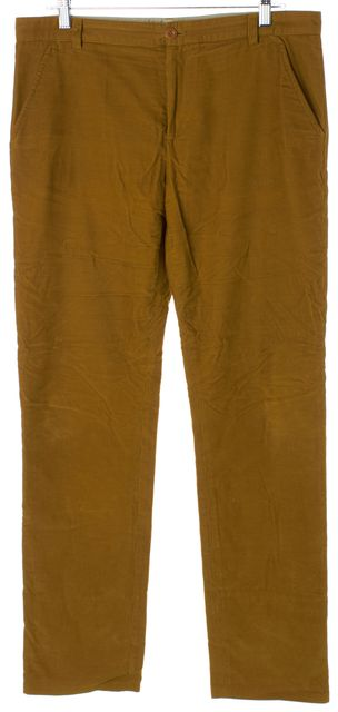 A.P.C. Mustard Yellow Cotton Slim Straight Leg Corduroys Pants