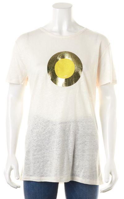 A.P.C. Beige Graphic Linen Basic T-Shirt