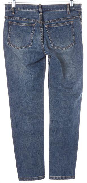 A.P.C. Blue Cotton Etroit Court Skinny Jeans