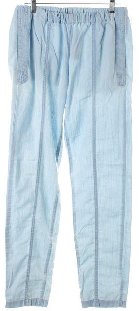 A.P.C. Light Blue Chambray Elastic Casual Pants