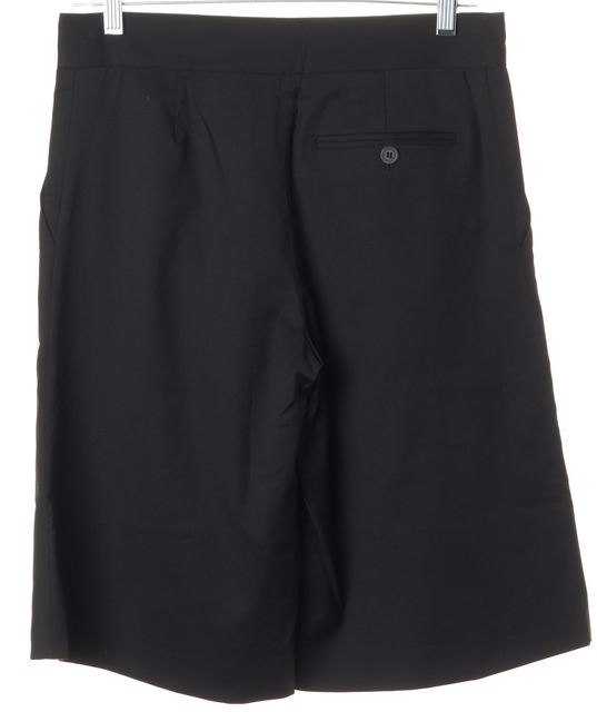 A.P.C. Black Wool Bermuda Walking Dress Shorts