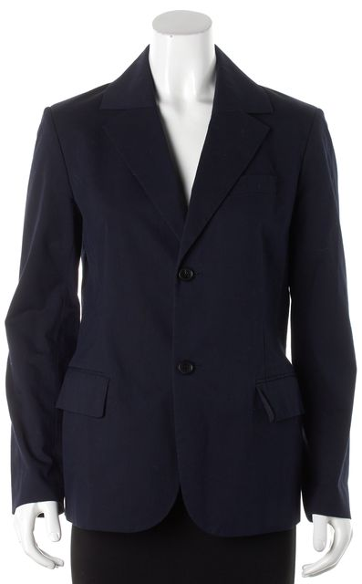 A.P.C. Blue Cotton Two Button Blazer Jacket