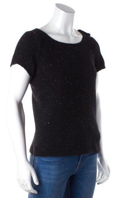 A.P.C. Black Beige Wool Speckled Knit Crewneck Sweater