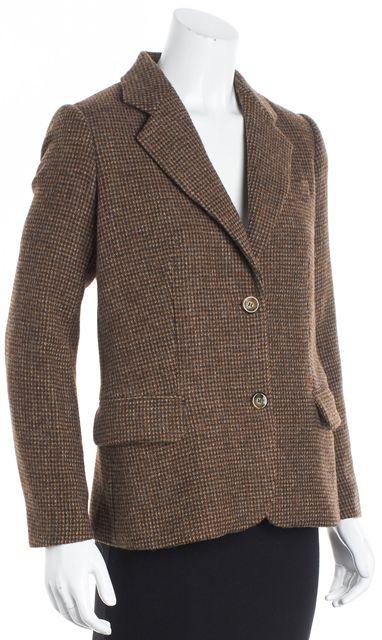 A.P.C. Brown Tweed One-Button Blazer