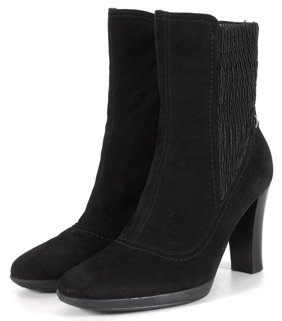 AQUATALIA Black Suede Ankle Boots Size Fits Like 5