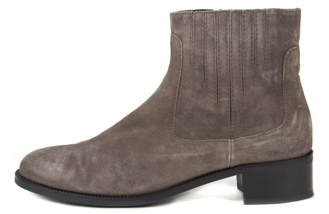 AQUATALIA Gray Suede Chelsea Ankle Boots