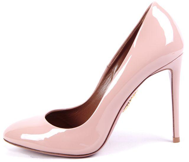 AQUAZZURA Pale Pink Patent Leather Pump Heels