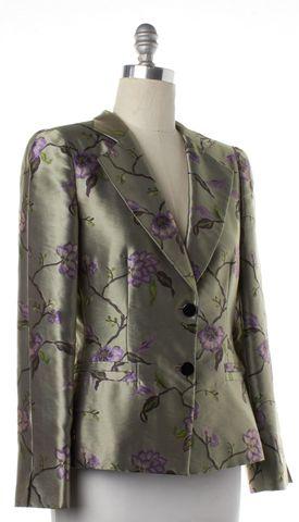 ARMANI COLLEZIONI Green Floral Blazer Jacket