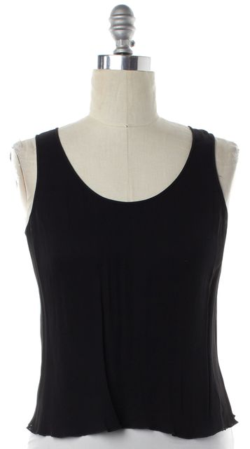 ARMANI COLLEZIONI Black Back Zip Tank Top