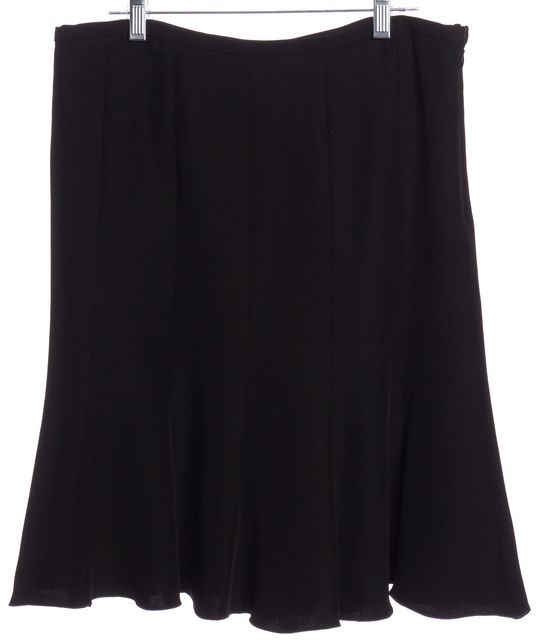 ARMANI COLLEZIONI Black Straight Skirt Fits Like a 6