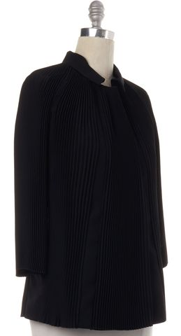 ARMANI COLLEZIONI Black Pleated Jacket