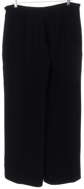 ARMANI COLLEZIONI Black Wide Leg Dress Pants