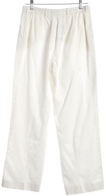 ARMANI COLLEZIONI White Wide Leg Casual Pants