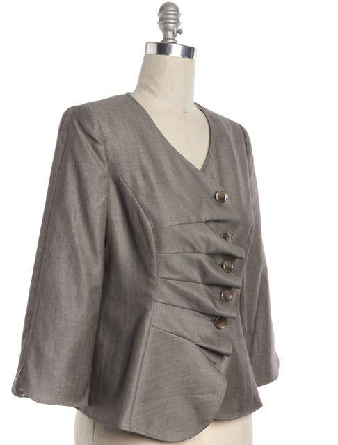 ARMANI COLLEZIONI Gray Wool Blazer