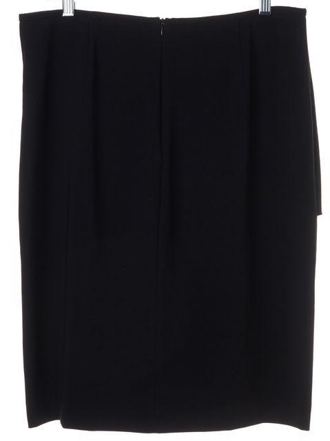 ARMANI COLLEZIONI Black Classic Casual Pencil Knee-Length Career Skirt