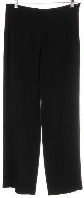 ARMANI COLLEZIONI Black Side Zip Silk Blend Trouser Dress Pants