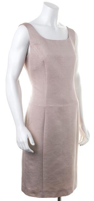 ARMANI COLLEZIONI Blush Pink Casual Sleeve-Less Sheath Dress
