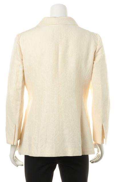 ARMANI COLLEZIONI Ivory Abstract Button Down Blazer