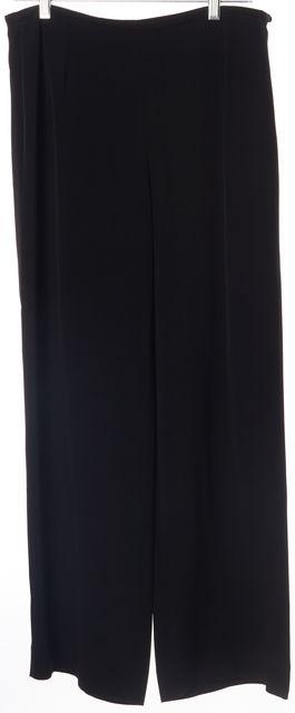 ARMANI COLLEZIONI Black Acetate Blend Wide Leg Pants