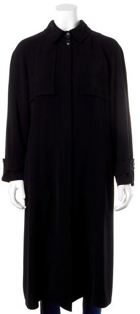 ARMANI COLLEZIONI Black Trench Coat
