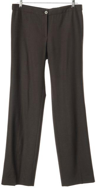 ARMANI COLLEZIONI Brown Wool No Pocket Dress Pants