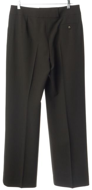 ARMANI COLLEZIONI Dark Brown Casual Wide Leg Boot Cut Career Dress Pants
