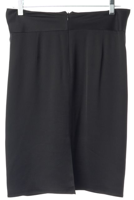 ARMANI COLLEZIONI Black Silk Front Know Waist Above Knee Straight Skirt
