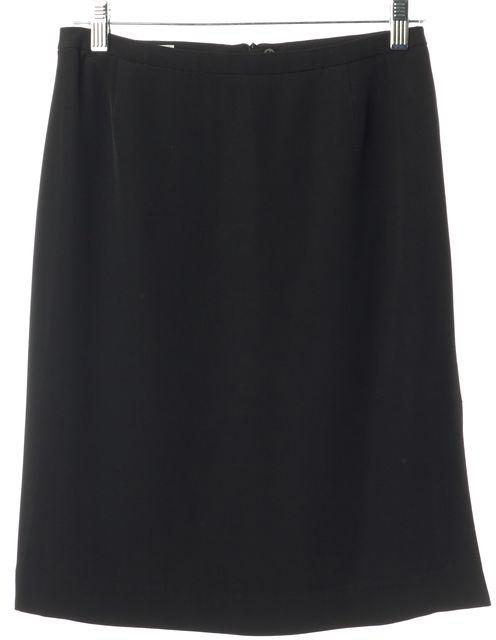 ARMANI COLLEZIONI Black Casual Split Side Straight Classic Career Skirt