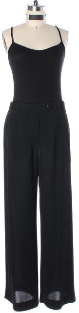 ARMANI COLLEZIONI Black Sheer Dress Pants