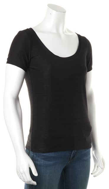 ARMANI COLLEZIONI Black Basic Casual Short Sleeve T-Shirt
