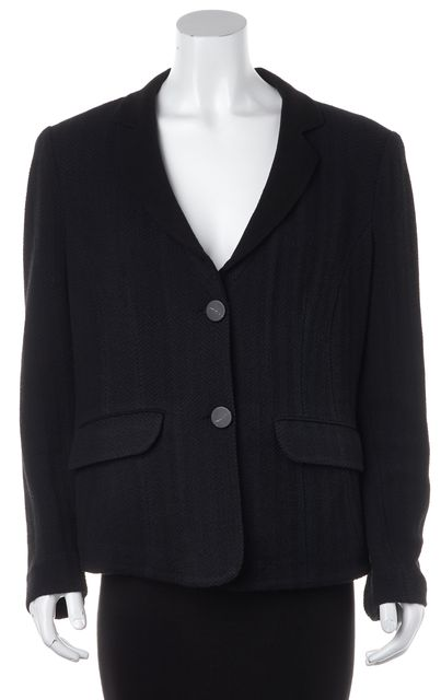 ARMANI COLLEZIONI Blue Black Basic 2 Button Jacket