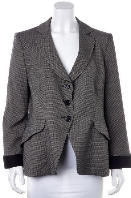 ARMANI COLLEZIONI Black Gray Tweed Wool Blazer Jacket