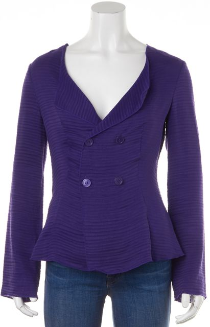 ARMANI COLLEZIONI Purple Button Down Long Sleeve Shirt Top