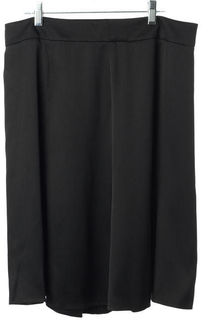 ARMANI COLLEZIONI Black Silk Above Knee Pleated Skirt