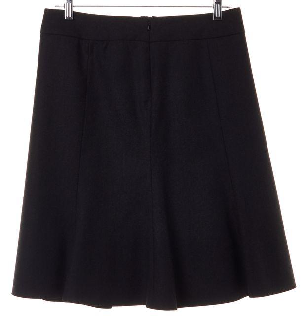 ARMANI COLLEZIONI Graphite Gray Wool A-Line Skirt