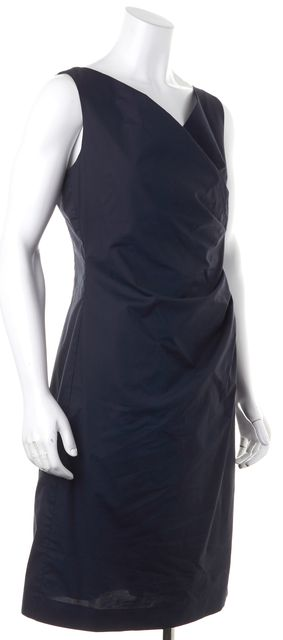ARMANI COLLEZIONI Blue Cocktail Sheath Dress