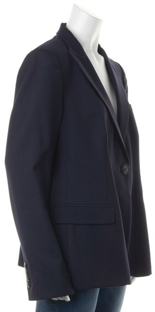 ARMANI COLLEZIONI Navy Blue Buttoned Career Blazer