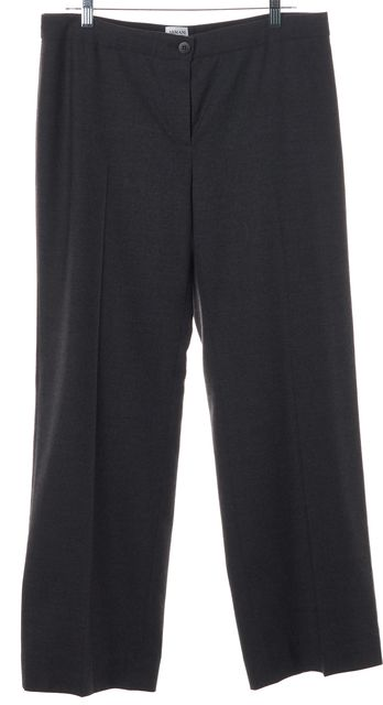 ARMANI COLLEZIONI Gray Wool No Pocket Dress Pants