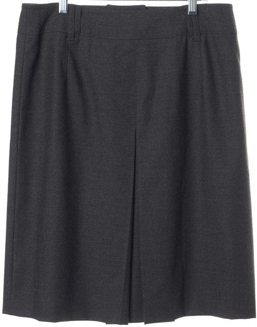 ARMANI COLLEZIONI Gray Wool Pleated Skirt