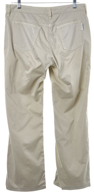 ARMANI COLLEZIONI Beige Stretch Cotton Casual Pants