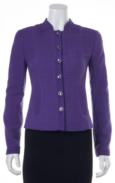 ARMANI COLLEZIONI Purple Silk Blazer