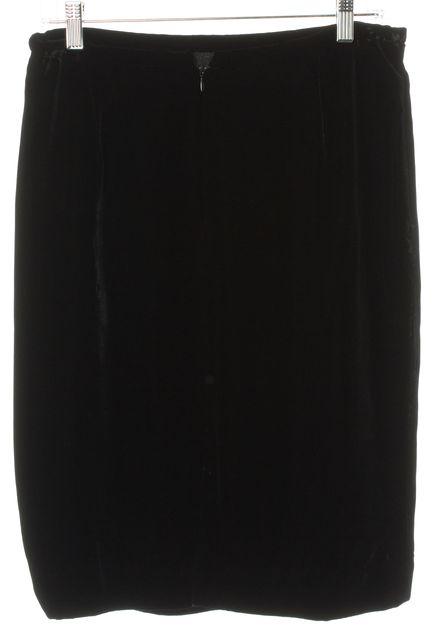 ARMANI COLLEZIONI Black Straight Velvet Skirt