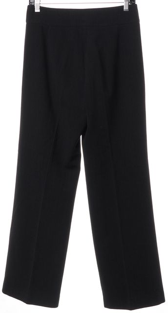 ARMANI COLLEZIONI Black Pleated Trouser Dress Pants